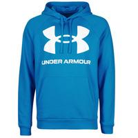 Clothing Men Sweaters Under Armour UA RIVAL FLEECE BIG LOGO HD Blue