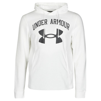 Clothing Men Sweaters Under Armour UA RIVAL FLEECE BIG LOGO HD White