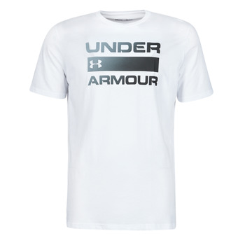 Clothing Men Short-sleeved t-shirts Under Armour UA TEAM ISSUE WORDMARK SS White