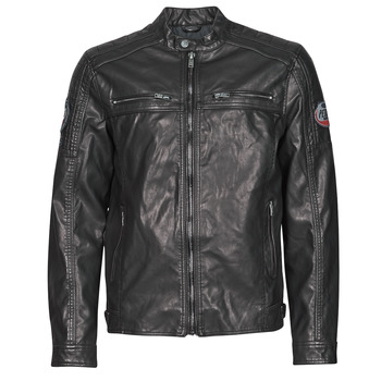 Clothing Men Jackets Petrol Industries JACKET PU BIKER Black