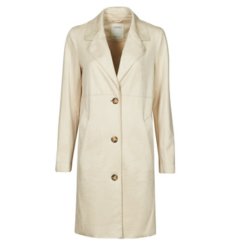 Clothing Women Coats Esprit SUEDE COAT Beige