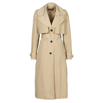 Clothing Women Trench coats Esprit TRENCH NYLON LNG Beige