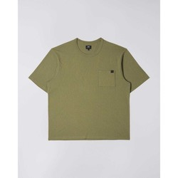 Clothing Men Short-sleeved t-shirts Edwin T-shirt  Oversized vert kaki