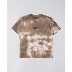 Clothing Men Short-sleeved t-shirts Edwin T-shirt  Synergy marron/blanc