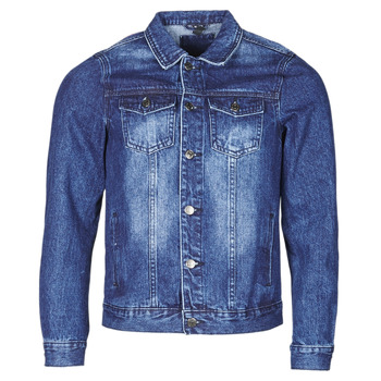 Clothing Men Denim jackets Yurban OPSI Blue / Medium