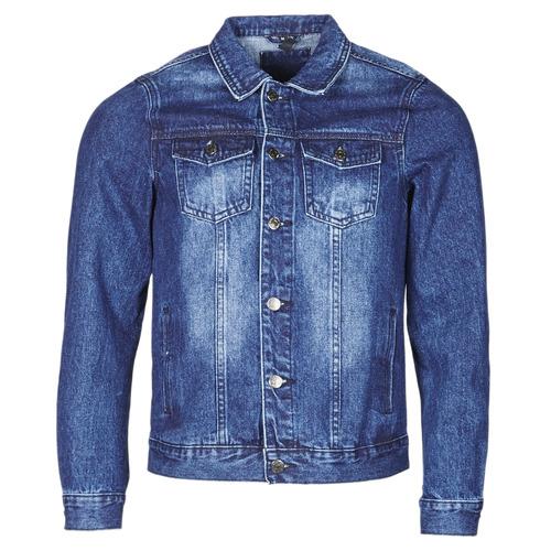 Clothing Men Denim jackets Yurban OPSI Blue / Medium