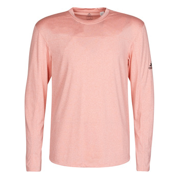 Clothing Men Long sleeved tee-shirts adidas Performance CITY HTR LS TEE Pink