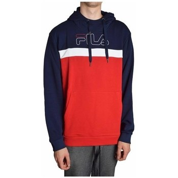 Clothing Men Sweaters Fila Lauritz Hoody White, Red, Navy blue