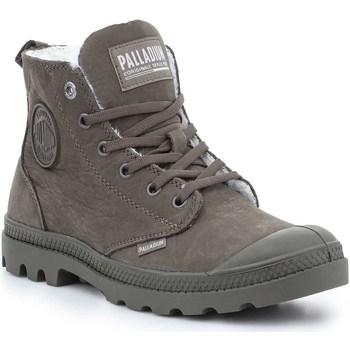 Shoes Women Mid boots Palladium Pampa HI Zip WL 95982-213-M brown