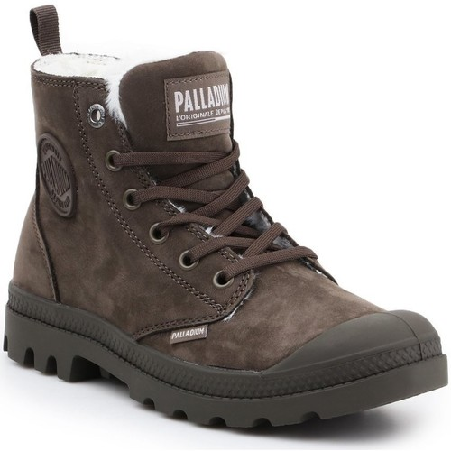 Shoes Women Mid boots Palladium Manufacture Pampa HI Zip WL 95982-213-M brown