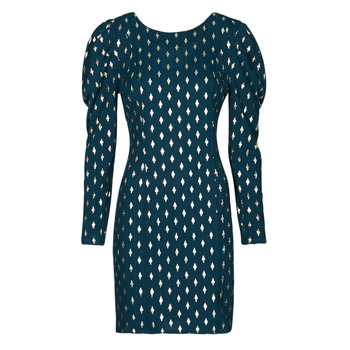 Clothing Women Short Dresses Naf Naf HERMIONE R1 Marine / Gold