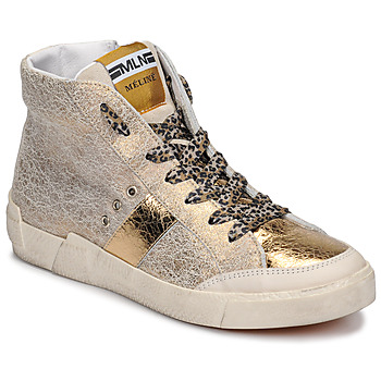 Shoes Women Hi top trainers Meline NK1384 Gold