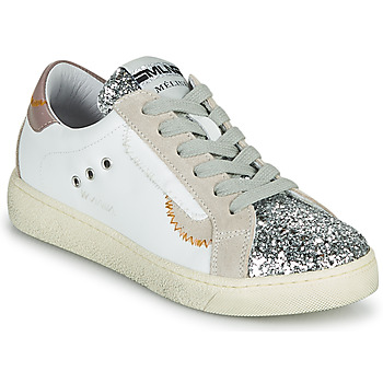 Shoes Women Low top trainers Meline CAR139 White / Glitter