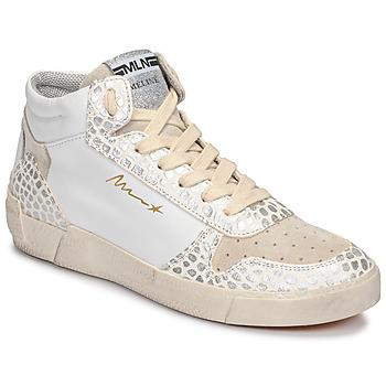 Shoes Women Hi top trainers Meline NK1409 White / Croc