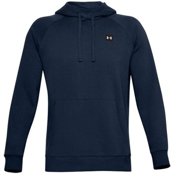 Clothing Men Sweaters Under Armour Rival Fleece Hoodie Navy blue