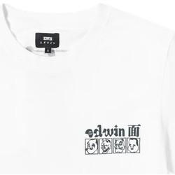 Clothing Men Short-sleeved t-shirts Edwin T-shirt  Hokusai Noh Masks blanc/noir