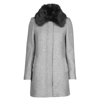 Clothing Women Coats Naf Naf AROUSSA Grey