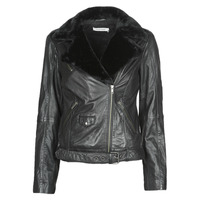 Clothing Women Leather jackets / Imitation leather Naf Naf CILL Black
