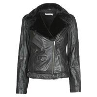 Clothing Women Leather jackets / Imitation leather Naf Naf CILL Black