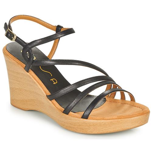 Shoes Women Sandals Unisa RABAL Black