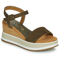 Shoes Women Sandals Unisa KOLLA Kaki