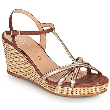 Shoes Women Sandals Unisa LLINAR Gold