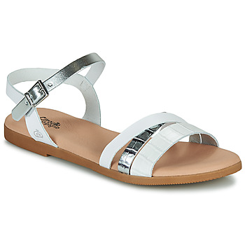Shoes Girl Sandals Citrouille et Compagnie OBINOU White / Silver