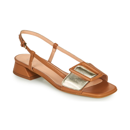 Shoes Women Sandals Fericelli PANILA Camel / Gold