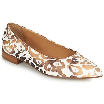 Shoes Women Flat shoes Fericelli SELENA White / Gold