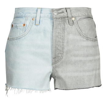 Clothing Women Shorts / Bermudas Levi's ICE BLOCK Blue / Grey