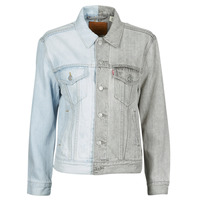 Clothing Women Denim jackets Levi's ICE BLOCK TRUCKER Blue / Grey