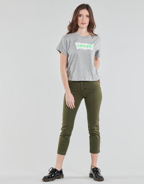 Clothing Women 5-pocket trousers Levi's SOFT CANVAS OLIVE NIGHT OD Kaki