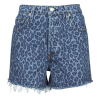 Clothing Women Shorts / Bermudas Levi's CHARLESTON LEOPARD Blue