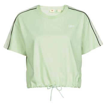 Clothing Women Short-sleeved t-shirts Levi's GINGER NYLON PIECED TEE BOK CHOY, TOFU & CAVIAR White