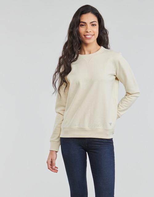 Clothing Women Sweaters Lee SUSTAINABLE SWS ECRU MELE White