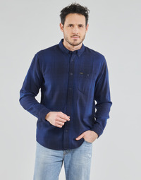 Clothing Men Long-sleeved shirts Lee RIVETED SHIRT WASHED BLUE Blue