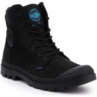 Shoes Men Mid boots Palladium Pampa Cuff WP LUX 73231-001-M black