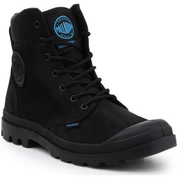 Shoes Men Mid boots Palladium Pampa Cuff WP LUX 73231-001-M black