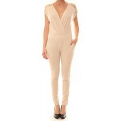 Clothing Women Jumpsuits / Dungarees La Vitrine De La Mode Combinaison 155 By La Vitrine Beige Beige
