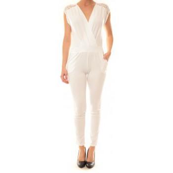 Clothing Women Jumpsuits / Dungarees La Vitrine De La Mode Combinaison 155 By La Vitrine Blanche White