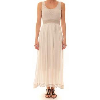 Clothing Women Long Dresses La Vitrine De La Mode Robe Z1392 By La Vitrine Beige Beige