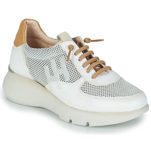 Shoes Women Low top trainers Hispanitas TELMA White / Gold