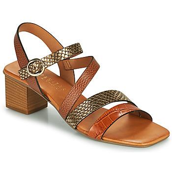 Shoes Women Sandals Hispanitas OLGA Brown / Bronze