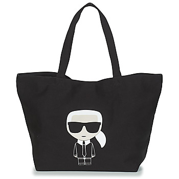 Bags Women Shopping Bags / Baskets Karl Lagerfeld K/IKONIK KARL TOTE Black