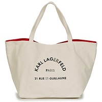 Bags Women Shopping Bags / Baskets Karl Lagerfeld RUE ST GUILLAUE CANVAS TOTE Ecru