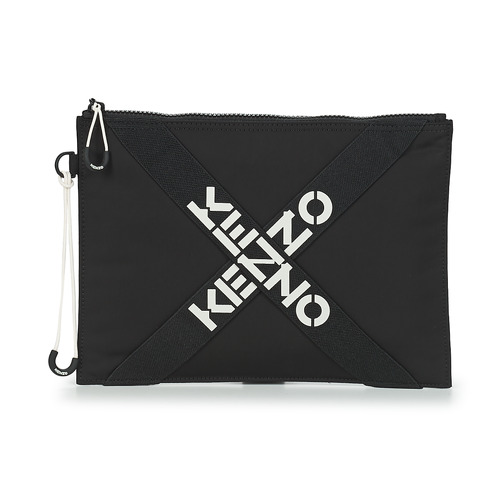 Bags Women Pouches / Clutches Kenzo KENZO ACTIVE LARGE CLUTCH Black / White