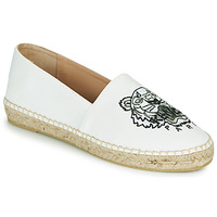 Shoes Women Espadrilles Kenzo CLASSIC TIGER White