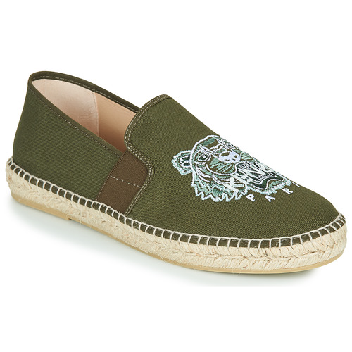 Shoes Men Espadrilles Kenzo ELASTIC TIGER Kaki