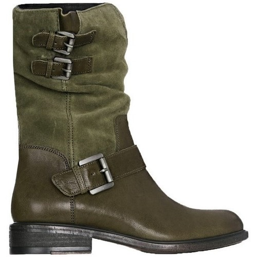Shoes Women Ankle boots Geox D Charlene A Green, Olive