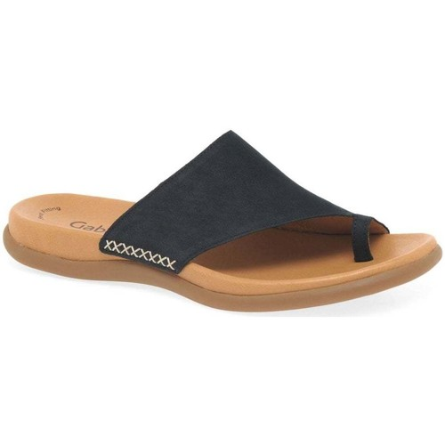 Shoes Women Flip flops Gabor Lanzarote Toe Loop Womens Mules blue